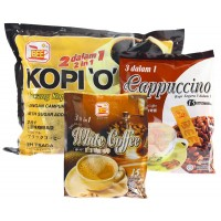 Bee Coffee Combo 8 [1 Pack 2-in-1 Black Coffee + 1 White Pack Coffee +1 Pack Cappuccino]