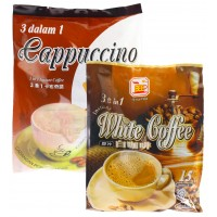 Bee Coffee Combo 2 [1 Pack Cappuccino Coffee + 1 Pack White Coffee]