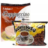 Bee Coffee Combo 3  [1 Pack Cappuccino Coffee + 1 Pack Milk Coffee]
