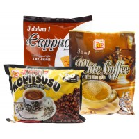 Bee Coffee Combo 4 [1 Pack Cappuccino Coffee + 1 Pack White Coffee + 1 Pack Milk Coffee]