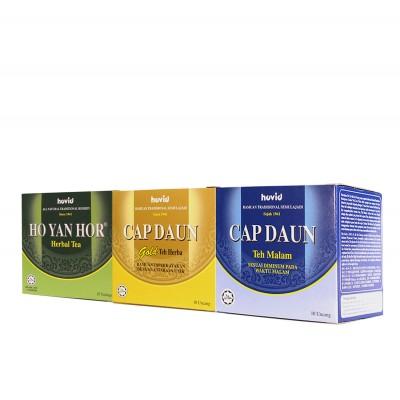 Ho Yan Hor 1 Herbal Tea + 1 Gold Tea + 1 Night Tea Combo Pack