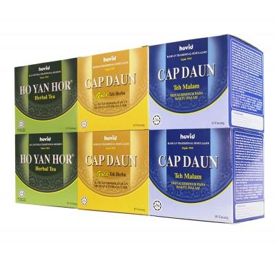 Ho Yan Hor 2 Herbal Tea + 2 Gold Tea + 2 Night Tea Combo Pack