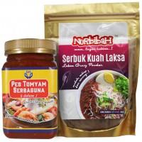 Nurbibah All Purpose Tomyam Paste [2 bottles] + Laksa Gravy Powder [2 Packs]
