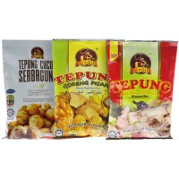Thaqif All Purpose Flour (Spicy) [2 pack] + Banana Deep Fried Flour [2 pack] + Multi Purpose Fritter Flour [2 Pack]